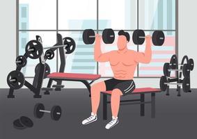 scena di esercizio di bodybuilding