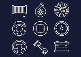 Set di icone Web di Carshop vettore