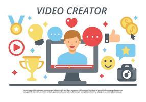 video creatore / video blogging vettoriale