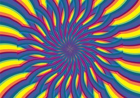 Illusione dell'ipnosi psichedelica astratta vettore