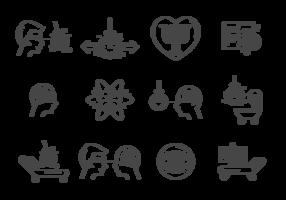 Vettore delle icone di ipnosi