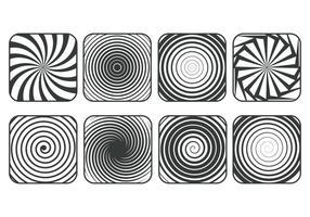 Set di icone di hinosi vettore