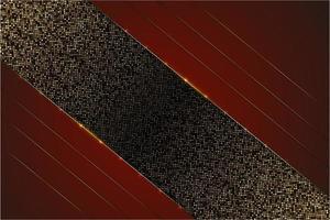 sfondo metallico di lusso rosso e oro