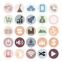 set di icone di internet piatto