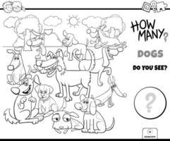 conteggio dei cani gioco educativo libro a colori