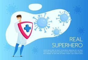 banner di protezione del coronavirus