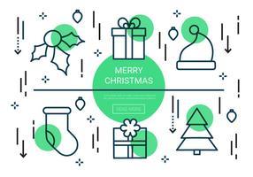 Icone vettoriali gratis Natale lineare