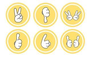 set di icone di gesto vettore