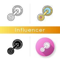 icona di integrazione nativa. targeting nella strategia aziendale. vettore