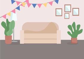 soggiorno decorato