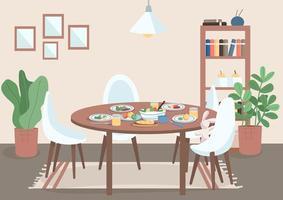 tavolo della sala da pranzo vettore