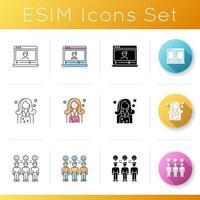 set di icone di social media influencer. vettore