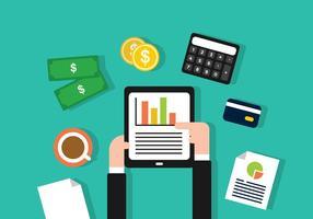 CPA finanziario che fa l'illustrazione del rapporto vettore