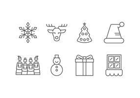 Icone impostate di giorno di Natale vettore