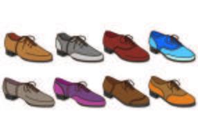 Set di maschili scarpe da ginnastica icona vettore