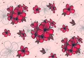 modelli classici di fiori di pruno vettore