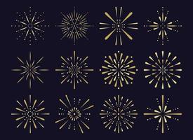 serie di fuochi d'artificio, articoli pirotecnici vettore