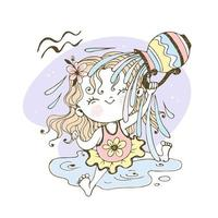 zodiaco dei bambini. segno acquario. vettore