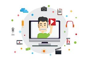vettore del creatore di contenuti