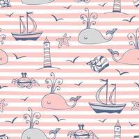 seamless su un tema marino