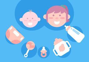 Vettori di giocattoli per bambine e bambine