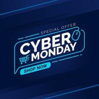 modello di banner di vendita cyber lunedì vettore