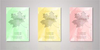 set di copertine ritagliate acquerello foglia d'autunno