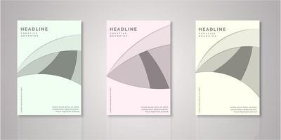 set di copertine tagliate in carta di forma astratta