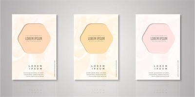 set di copertine acquerello cornice esagonale