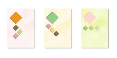 set di copertine tagliate in carta a forma di diamante