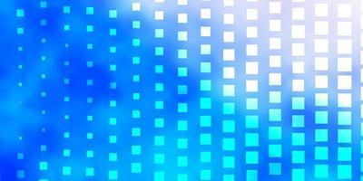 sfondo azzurro con rettangoli.