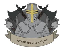 emblema del cavaliere medievale
