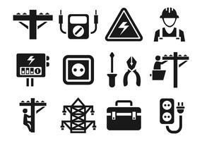 Lineman icone vettoriali gratis