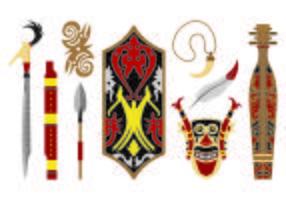 Set di icone Dayak