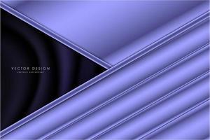 pannelli ad angolo viola metallizzato con spazio scuro di seta