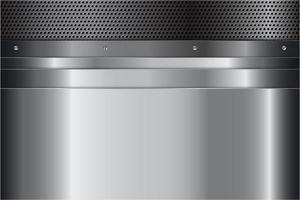 pannelli argento metallizzato con viti su struttura perforata