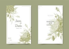 carta di invito matrimonio floreale.