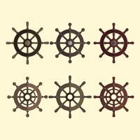 Collezione di elementi di vettore di ruote di navi