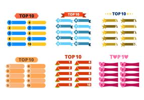 Top 10 elenco vettoriale