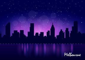 skyline di melbourne city vettore