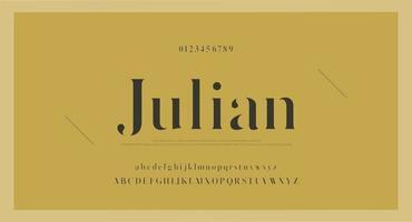 carattere vintage elegante con numeri