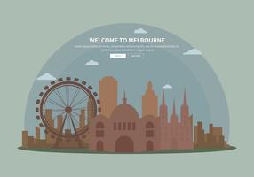 Silhouette gratis illustrazione di Melbourne vettore