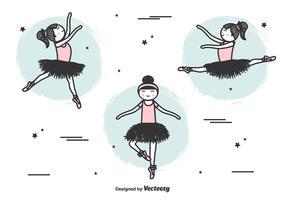 Vettore di ballerine