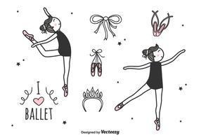 Insieme di vettore di balletto