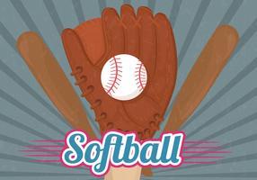 Vettore del fondo del guanto di softball