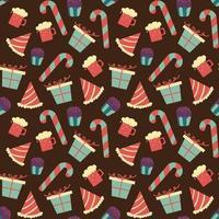 modello di cioccolato senza soluzione di continuità con caramelle dolci vettore