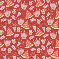 buon compleanno seamless pattern