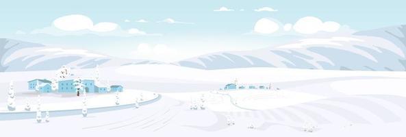 prospettiva del paesaggio invernale vettore