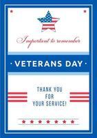 poster dell'evento del giorno dei veterani
