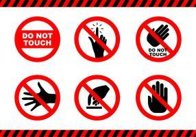Flat Do not Touch Sticker vettore